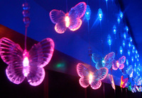 holiday lighting for cabinet decoration 6W 110V/220V  seven colour butterflies free shipping
