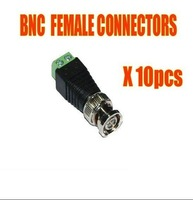 10 x Coax CAT5 To CCTV BNC Video Balun Jack Connector free shipping
