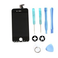 Free Shipping Replacement Black Touch Screen LCD Display & Opening Tools for iPhone 4S