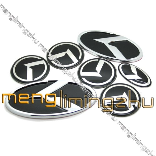 15 sets lots KIA 7pcs Boot + Bonnet + Wheel Center sticker + Steering Wheel sticker Red or Black MIX(China (Mainland))