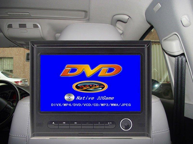 DIY Install NEW 9 inch HD 720P Headrest Car DVD player with 32bit Games+USB+SD+IR/FM transmitter+Bracket(China (Mainland))