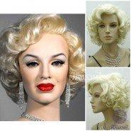 Synthetic fiber of 100% Kanekalon,wholesale high quality women hair wig,Asian.Marilyn Monroe short wigs,free shipping