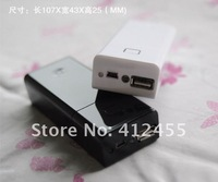 Free shipping DIY 5V 1A Output USB 18650 Battery Box Charger Portable Mobile Power Supply Box