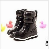 botas femininas freeshipping winter limited knee high boots 2014 new rubber duck snow female japanned waterproof shoes!hot sale