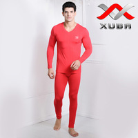 Parcel post Modal high quality commercial V-neck thermal underwear male thermal set male