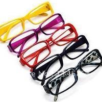 50pcs\lot--Free Shipping-Top Quality-Brand New   princess plain glass spectacles plain mirror multi color lens