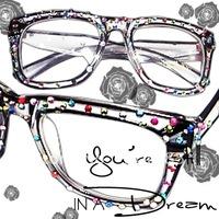 10pcs\lot-Free Shipping-Top Quality- personalized fashion rhinestone glasses frame Women eyeglasses frame glasses myopia glasses