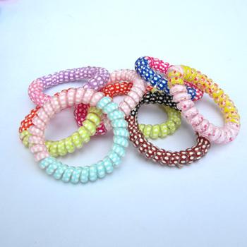 2012 accessories child accessories telephone cord color block decoration headband telephone cord multicolour child headband