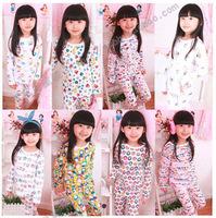 2012 autumn children's clothing baby child 100% cotton underwear set girls sleepwear lounge tz0025