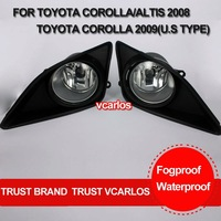 Free Gifts + Free Shipping Fog Lamp for TOYOTA COROLLA ALTIS 2008 + COROLLA 2009 (U.S .TYPE) Clear Lens PAIR SET + Wiring Kit