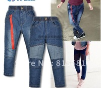 Free shipping !2012 new!Boy's jeans / children's clothing, thickening lamb flocking children jeans  size:90-100-110-120-130)