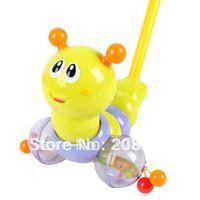 Pushing Music Lighting Worm Baby Toddler Toy Educational Toy Walker Free Shipping,1 pcs