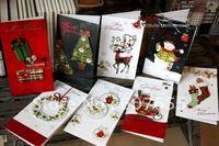 colorful series christmas greeting card christmas card 50pcs/lot free shipping wedding decoration