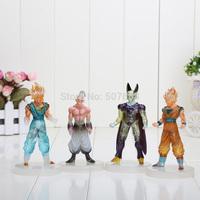 "Dragon ball Goku figure toy 4pcs/set  Anime Dragon Ball Z 5"" GOKU Cell BUU Action Figure toy"
