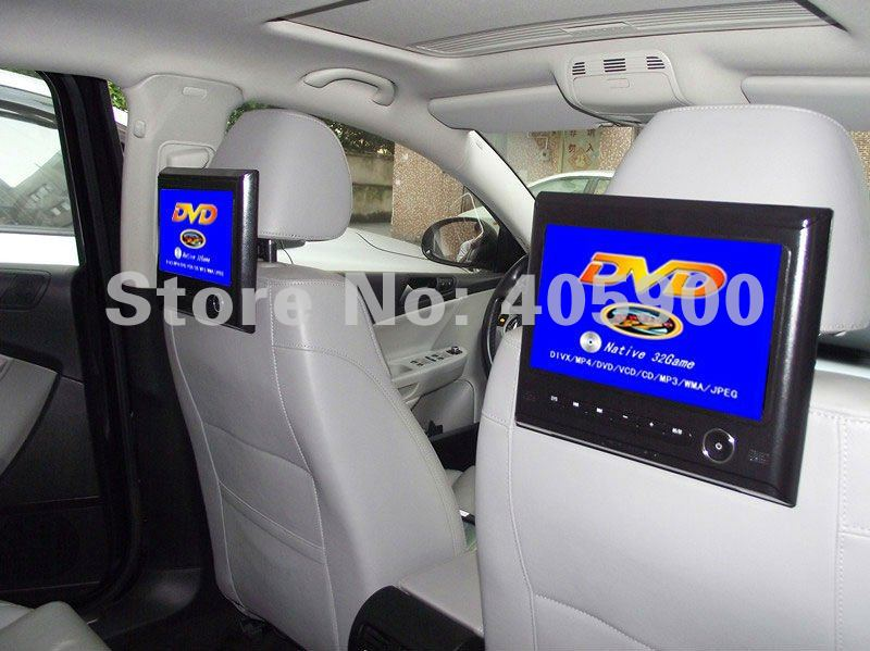 "DIGITAL SCREEN 2x9"" Headrest Car DVD player with 32bit Games+USB+SD+IR/FM transmitter+Bracket, easy install(China (Mainland))"