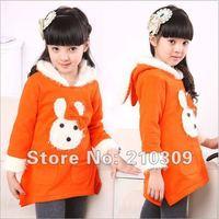Rabbit  girls hedging sweater Hoodies, Sweatshirts children coat