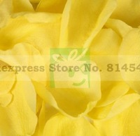 12 Packs/Lot Free Shipping Wholesale Wedding Decoration Supplies Yellow Silk Colorful Rose Petals Table Personalized Decor