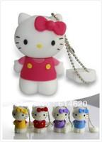 Free Shipping Hello Kitty USB Flash Drive 1GB 2GB 4GB 8GB 16GB, 10pcs/lot