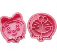 Pui India shall stereo cookie cutters set plastic cookie cutters cat Doraemon A Dream