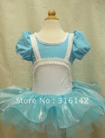 Girl dance dress summer princess blue dress denim dress 5sizes  high quality ww-001