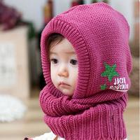 Wholesale 5pcs/lot New arrival baby ear child hat child belt hat Autumn and winter baby yarn ear child cap belt hat perimeter