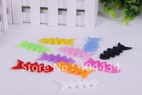 fishbone bobbin winder headset earphone cable lead wrapper winder  more color free shipping 1000pcs/lot