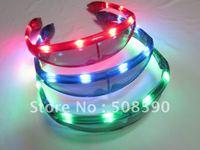 free shipping 30pcs/lot led glasses space flashing glasses eye sunglasses for Christmas party