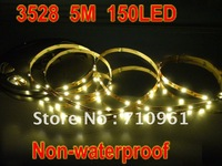 Free Shipping low discount price 3528 Non-Waterproof Flexible Strip 5M 150 LED LED Tape White