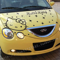Free shipping Fashion car sticker cartoon car garland hello Kitty front hood stick variety of colors