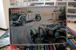 Automobile race antique car wall hanging picture reminisced metal painting world war, one color, CPAM(China (Mainland))