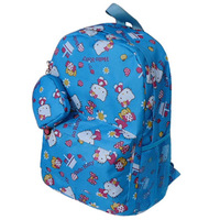 Hello kitty HELLO KITTY a grade pupil school bag child backpack blue free shipping