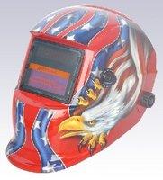 Cheap Nice apperance LI battery +Solar power auto darkening/shading welding mask/helmet/filter for welder operate the machine