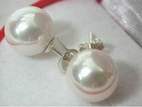 Fancy Jewellery  White Pearl Earring 11mm