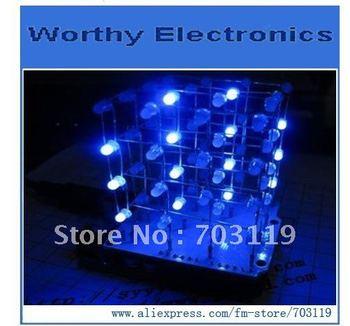 CUBE4 3D LED light cube / Fun / optical magic cube / 4 * 4 * 4 module / parts