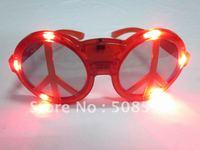 free shipping 30pcs/lot led glasses peace sign flashing glasses eye sunglasses for Christmas party