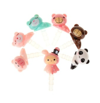 Free Shipping / New circus and animal series mobile phone dust plug / ear cap