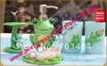Beautiful  Polyresin Bathroom Accessory Set- 5 PC- Lotion bottle& soap box &toothbrush paste & 2 pcs Tumbler