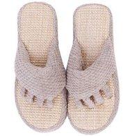 Free shipping Pure Linen Fashion Slipper , Flip-flop , Cutout Linen fashion sandals