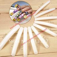 Free Shipping 100pcs/set Long Sharp Salon Acrylic False Nail Tips - Natural For Nail art