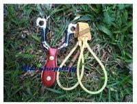 wooden handle catapult pro hunting slingshot