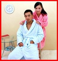 Winter lovers male Women coral fleece robe bathrobes sleepwear thickening lengthen