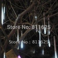 110V/220V 30cm 8 tubes(18 Led each tube) 144leds String LED Meteor Rain shower Light bulb christmas tree decoration lamp