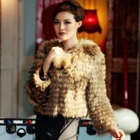 FS830078 Genuine Raccoon fur Black Blue White Coffee Natural Color Coat Women's Jacket Plus Sizes wholesale / retail / OEM