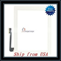 Free Shipping + Wholesale 5pcs/lot Digitizer Touch Screen For iPad 3/For The New iPad White Ship from USA-87004426