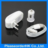 USB Car Charger Travel Wall Adapter With Internal Circuit For iPhone4 3GS 3G iPod Free Shipping