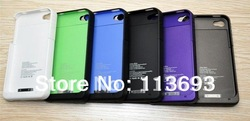 Free shipping 1900mah external battery case For iPhone 4 4S 4G Rechargeable Backup Battery Case power Charger(China (Mainland))