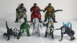 Godzilla Monsters 8 Action Toy Figures Set Free Shipping(China (Mainland))