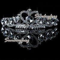 Fast Free Shipping! Gorgeous Alloy With Austria Rhinestones Wedding Bridal Tiara Headpiece -JVTN10