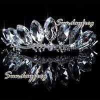 Fast Free Shipping! Gorgeous Alloy With Austria Rhinestones Wedding Bridal Tiara Headpiece -JVTN09