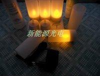 6pcs/set  Rechargeable LED tea light Candle light set Environmental protection coffee shop decoration
